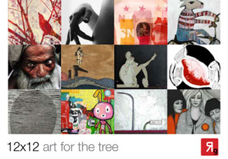 12 x 12 art for the tree exhibition promo